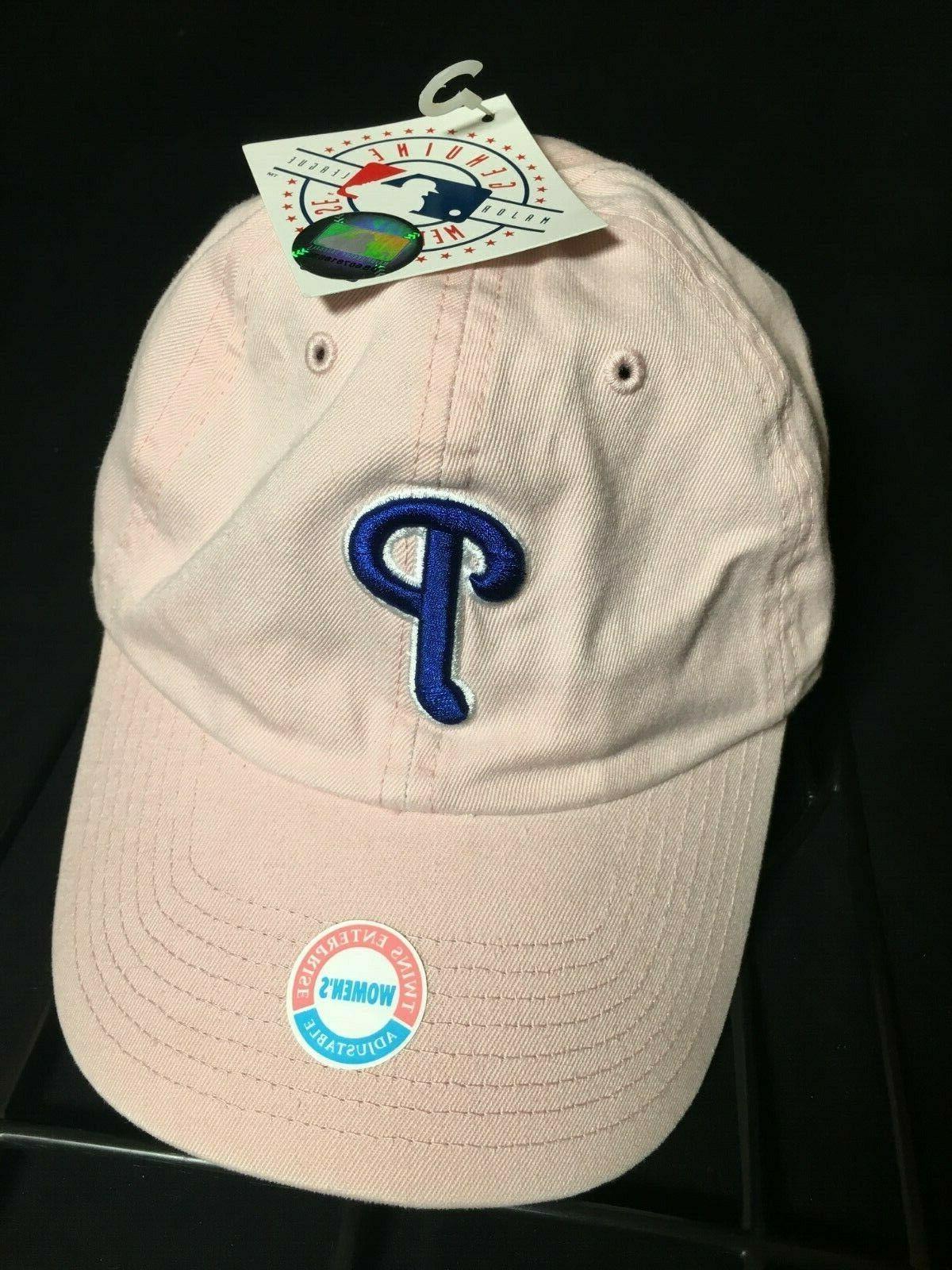philadelphia phillies women s pink blue adjustable