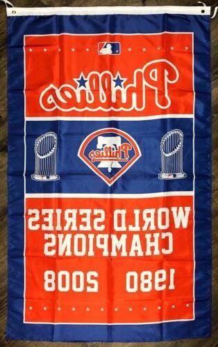 Philadelphia Phillies Series Championship 3x5 MLB Sports Banner