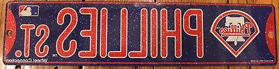 street sign philadelphia phillies st mlb lic
