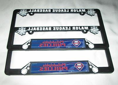 two 2 philadelphia phillies license plate frames