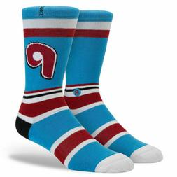 STANCE Men's MLB Retro Phils Philadelphia Phillies Crew Sock
