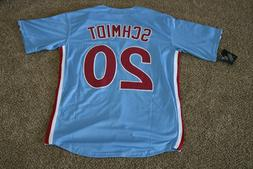 Mike Schmidt #20 Philadelphia Phillies Retro Blue Jersey 2XL