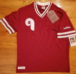 Mitchell & Ness Philadelphia PHILLIES Shirt Mens M baseball
