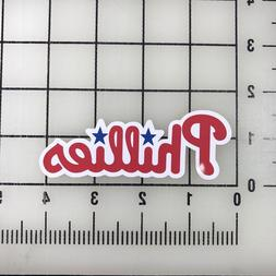 "Philadelphia Phillies MLB 4"" Wide VInyl Decal Sticker - BOGO"