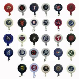 MLB Baseball Badge Reel Sports Retractable Security ID Holde