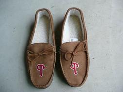 MLB Baseball Men's Team Logo Moccasin Slippers Shoe Philadel