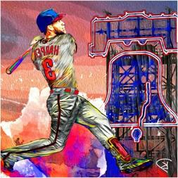 "MLB BASEBALL PHILADELPHIA PHILLIES BRYCE HARPER 13""X19"" SIZE"