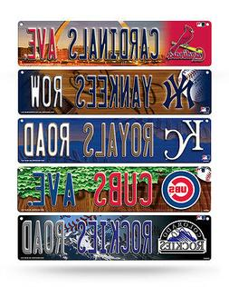 "MLB Baseball Plastic Street Sign 3.75"" x 16"" - Pick your tea"