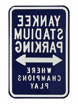 MLB Fans Parking Metal Steel Street Sign Embossed SELECT YOU