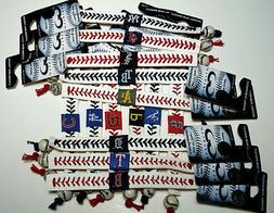mlb leather baseball seam bracelet wristband bundle