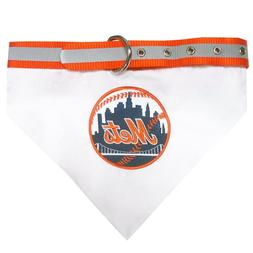 MLB Official New York Mets Pet Bandana Collar, Size Small Fi