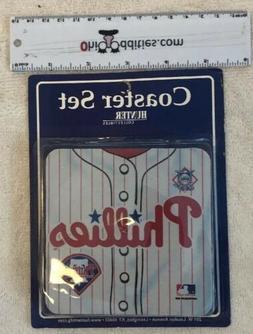 MLB Philadelphia Phillies Baseball Coasters 4 In A Set - New