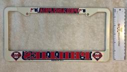 MLB Philadelphia Phillies Baseball License Plate Frame, Whit