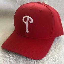 MLB Philadelphia Phillies Baseball Red Snap Back Baseball Ha