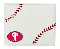 MLB Philadelphia Phillies Baseball Stitches Leather Wallet,