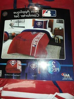 MLB Philadelphia Phillies Grand Slam Twin Comforter Set NEW