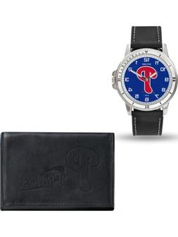 MLB Philadelphia Phillies Leather Watch/Wallet Set by Rico I