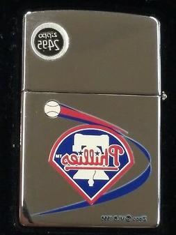 MLB Philadelphia Phillies Zippo Lighter, NEW