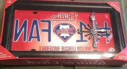 MLB Philadelphia Phillies Number 1 Fan License Plate Wall Cl