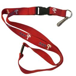 MLB Philadelphia Phillies Red Lanyard ID Badge Holder