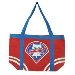 MLB Philadelphia Phillies Tote Canvas Womens Handbag Bag Pur