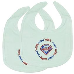 MLB Philadelphia Phillies White Baby Fanatic Cloth Bibs Velc