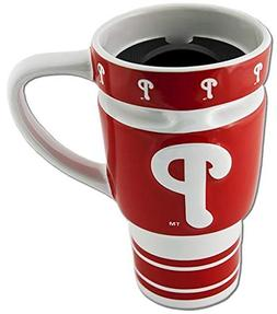 MLB Philadelphia Phillies Sculpted Travel Mug with Lid, 15oz