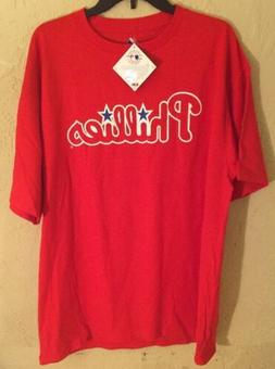 Nwt Philadelphia Phillies Cliff Lee T Shirts Red/White Size