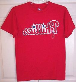 NWT Philadelphia Phillies SS Red T-Shirt Tee, Small, Youth o