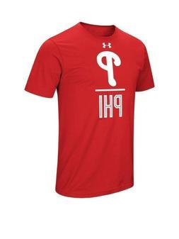 NWT Under Armor Philadelphia Phillies Men's T-Shirt SZ L