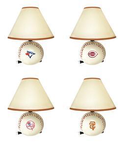 Desk Lamp Baseball Shape with MLB Team Logo Decal Kid's Room