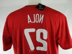 Philadelphia Phillies #27 Aaron Nola Red Player T-shirt Big