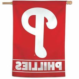 "PHILADELPHIA PHILLIES 28""X40"" HOUSE FLAG OR WALL BANNER MLB"