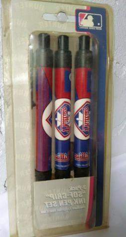 Philadelphia PHILLIES, 3 Pack, Ink Pen Set,  MLB Merchandise