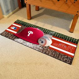 """Philadelphia Phillies 30"""" X 72"""" Baseball Runner Area Rug Flo"""