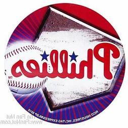 "Philadelphia Phillies 4"" Round Flat Decal Bumper Sticker Emb"