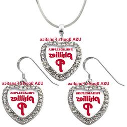 Philadelphia Phillies 925 Necklace / Earrings or Set Team He