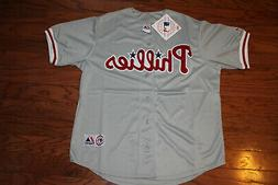 Philadelphia Phillies  Away Gray Jersey w/Tags  Size XL