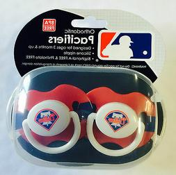 Philadelphia Phillies Baby Infant Pacifiers NEW - 2 Pack  GR