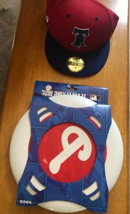 Philadelphia Phillies Baseball Cap and Flying Disc Set