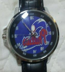 Philadelphia Phillies BB  Fan Leather Wrist Watch NEW