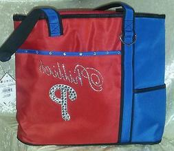 Philadelphia Phillies Blinged Rhinestone MLB Purse Tote Bag