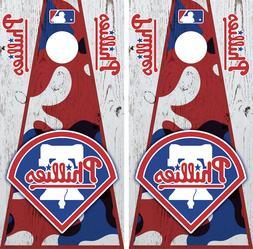 Philadelphia Phillies Cornhole Wrap MLB Decal Vinyl Camoufla