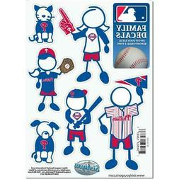 Philadelphia Phillies Family Decals 6 Pack  Small Auto Car S