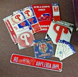 PHILADELPHIA PHILLIES FAN LOT ~ LOTS OF PIECES TO SHOW YOUR