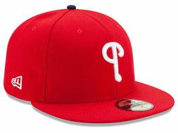 philadelphia phillies game 59fifty fitted hat red