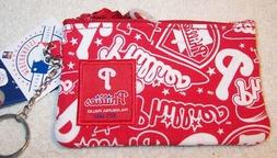 PHILADELPHIA PHILLIES I.D. CHANGE PURSE W/KEYCHAIN RING ~ NW