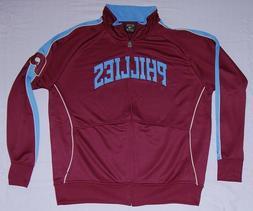 Philadelphia Phillies Jacket Throwback Full Zip Track Jacket