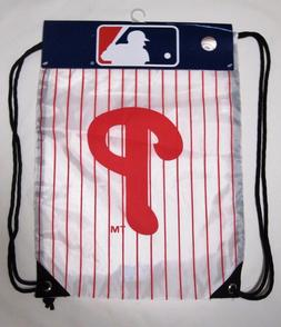 Philadelphia Phillies MLB Keeper Knapsack Backpack White Wit