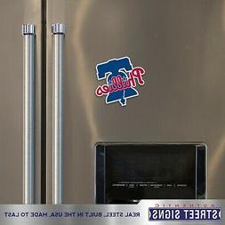 Philadelphia Phillies Laser Cut Logo Steel Magnet Bell Authe